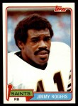 1981 Topps #236  Jimmy Rogers  Front Thumbnail