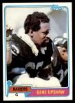 1981 Topps #219  Gene Upshaw  Front Thumbnail