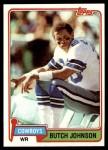 1981 Topps #229  Butch Johnson  Front Thumbnail