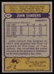 1979 Topps #54  John Sanders  Back Thumbnail