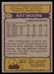 1979 Topps #120  Nat Moore  Back Thumbnail