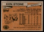 1981 Topps #479  Ken Stone  Back Thumbnail