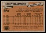 1981 Topps #451  Bobby Hammond  Back Thumbnail