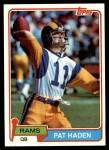1981 Topps #445  Pat Haden  Front Thumbnail