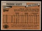 1981 Topps #463  Freddie Scott  Back Thumbnail