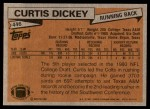 1981 Topps #446  Curtis Dickey  Back Thumbnail