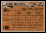 1981 Topps #484  Scott Dierking  Back Thumbnail