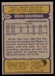 1979 Topps #154  Brian Baschnagel  Back Thumbnail