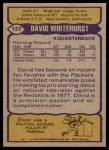 1979 Topps #137  David Whitehurst  Back Thumbnail