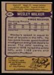 1979 Topps #141  Wesley Walker  Back Thumbnail