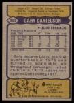 1979 Topps #253  Gary Danielson  Back Thumbnail