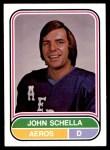 1975 O-Pee-Chee WHA #21  John Schella  Front Thumbnail