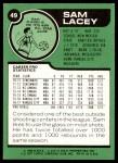 1977 Topps #49  Sam Lacey  Back Thumbnail