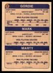 1974 O-Pee-Chee WHA #1   -  Gordie Howe / Mark Howe / Marty Howe The Howes Back Thumbnail