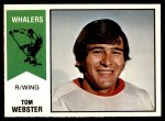 1974 O-Pee-Chee WHA #8  Tom Webster  Front Thumbnail