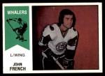 1974 O-Pee-Chee WHA #33  John French  Front Thumbnail