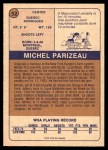 1974 O-Pee-Chee WHA #52  Michel Parizeau  Back Thumbnail
