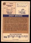 1974 O-Pee-Chee WHA #58  Andy Brown  Back Thumbnail