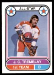 1975 O-Pee-Chee WHA #62   -  J.C. Tremblay All-Star Front Thumbnail