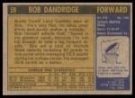 1971 Topps #59  Bob Dandridge  Back Thumbnail