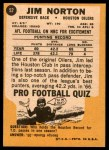 1967 Topps #52  Jim Norton  Back Thumbnail