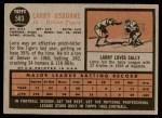 1962 Topps #583  Larry Osborne  Back Thumbnail