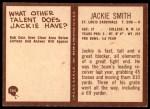 1967 Philadelphia #165  Jackie Smith  Back Thumbnail