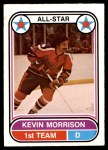 1975 O-Pee-Chee WHA #63   -  Kevin Morrison All-Star Front Thumbnail