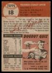 1953 Topps #18  Ted Lepcio  Back Thumbnail
