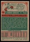1973 Topps #9  Lamar Green  Back Thumbnail
