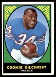 1967 Topps #74  Cookie Gilchrist  Front Thumbnail