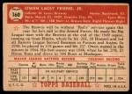 1952 Topps #160 CRM Owen Friend  Back Thumbnail