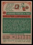 1973 Topps #167  Howard Porter  Back Thumbnail