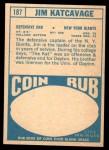 1968 Topps #187  Jim Katcavage  Back Thumbnail
