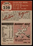 1953 Topps #238  Cal Hogue  Back Thumbnail