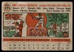 1956 Topps #275  Jim Greengrass  Back Thumbnail