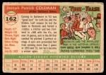 1955 Topps #162  Joe Coleman  Back Thumbnail