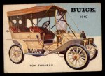 1953 Topps World on Wheels #4   Buick Toy Tonneau 1910 Front Thumbnail