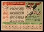 1955 Topps #102  Wally Westlake  Back Thumbnail
