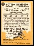 1967 Topps #107  Cotton Davidson  Back Thumbnail