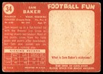1958 Topps #34  Sam Baker  Back Thumbnail