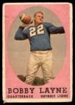 1958 Topps #2  Bobby Layne  Front Thumbnail
