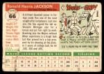 1955 Topps #66  Ron Jackson  Back Thumbnail