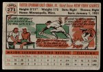 1956 Topps #271  Foster Castleman  Back Thumbnail