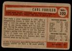 1954 Bowman #122  Carl Furillo  Back Thumbnail