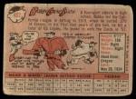 1958 Topps #402  Bobby Gene Smith  Back Thumbnail