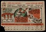 1956 Topps #268  Dale Mitchell  Back Thumbnail