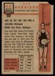 1957 Topps #63  Bob Harrison  Back Thumbnail