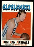 1971 Topps #75  Tom Van Arsdale  Front Thumbnail