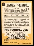 1967 Topps #75  Earl Faison  Back Thumbnail